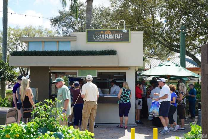 2015 Epcot Flower and Garden Festival Outdoor Kitchen kiosks and menus