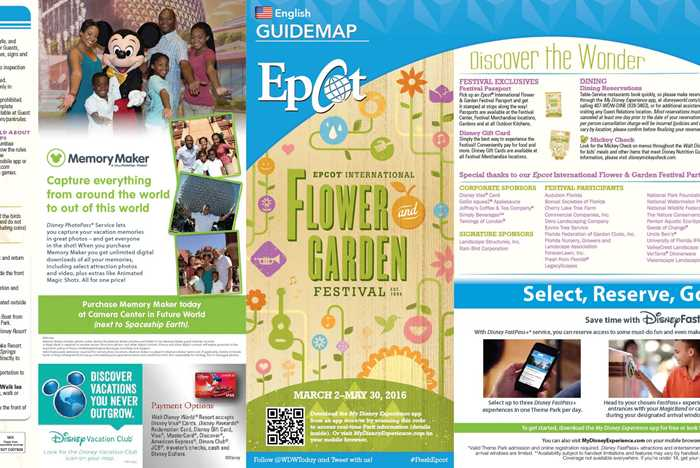 2016 Epcot Flower and Garden Festival Guidemap