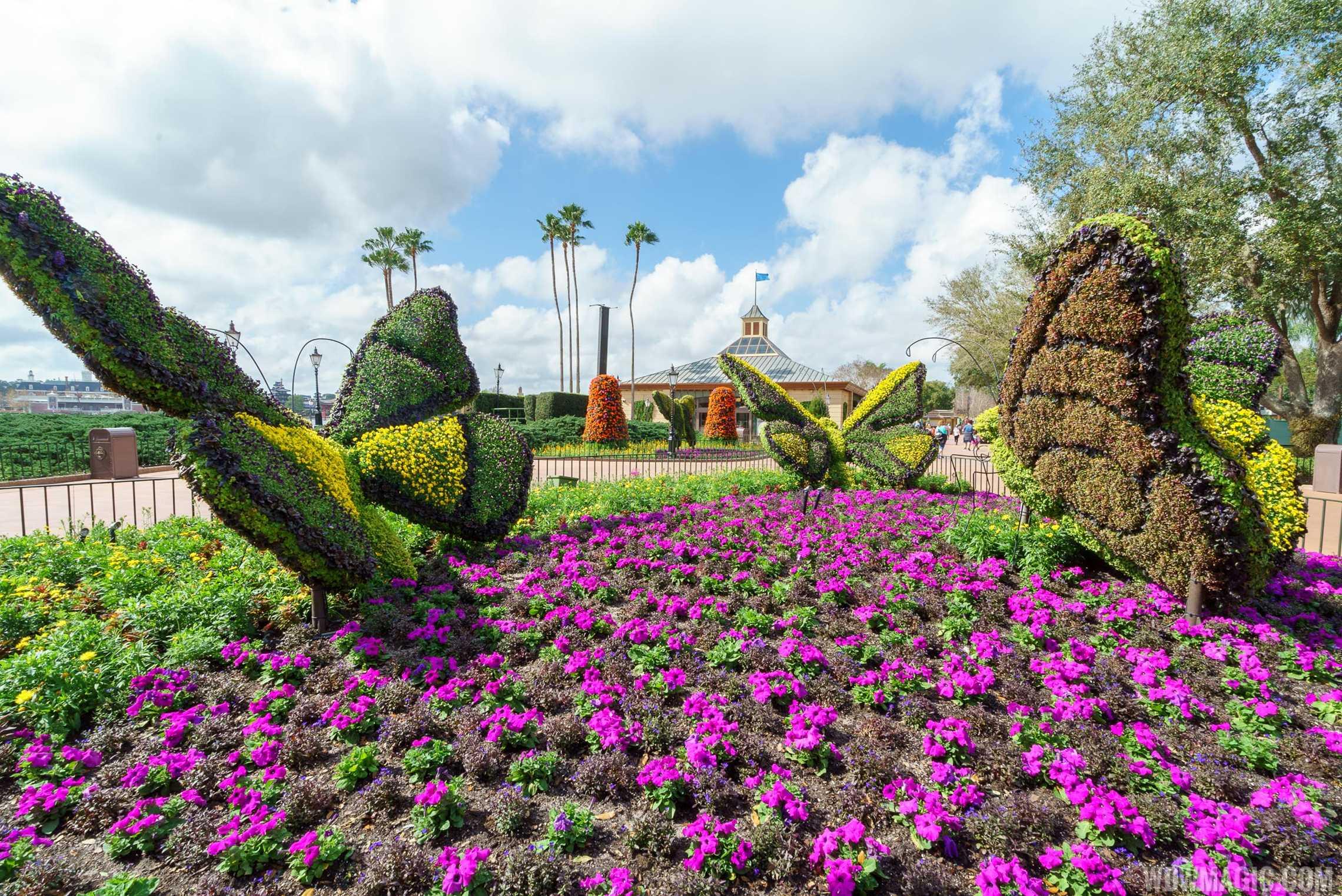 2017 Flower and Garden Festival - Butterflies topiaries in Showcase Plaza