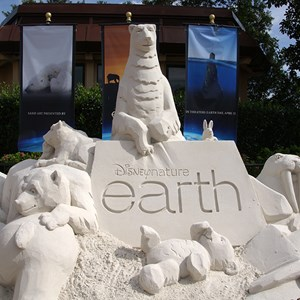 1 of 2: Epcot International Flower and Garden Festival - Disney Earth Sand Sculpture