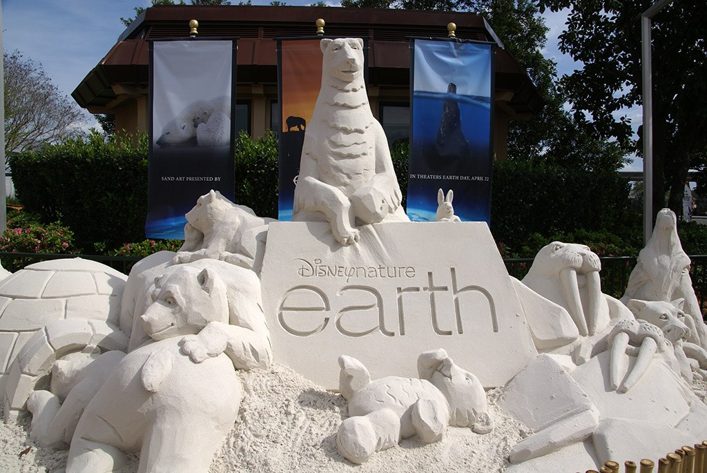 Disney Earth Sand Sculpture