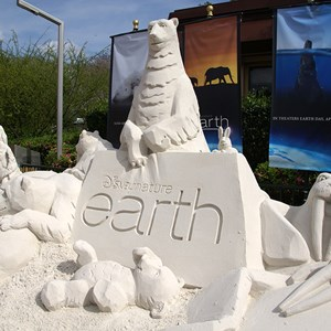 2 of 2: Epcot International Flower and Garden Festival - Disney Earth Sand Sculpture