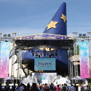1 of 15: 'Frozen' Summer Fun - Live at Disney's Hollywood Studios - Frozen Summer Fun - Stage setup for welcome