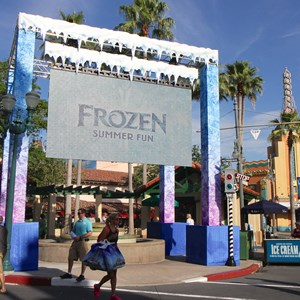 2 of 15: 'Frozen' Summer Fun - Live at Disney's Hollywood Studios - Frozen Summer Fun - Secondary viewing screen along Hollywood Blvd