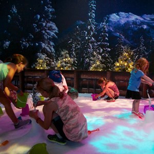 8 of 15: 'Frozen' Summer Fun - Live at Disney's Hollywood Studios - Frozen Summer Fun - Inside Wandering Oaken's Trading Post and Frozen Funland snow play area