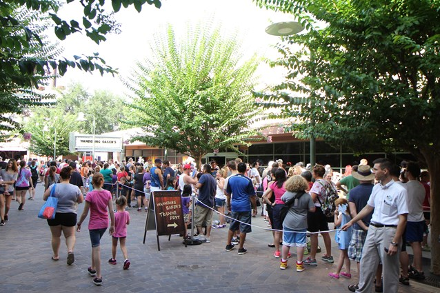 'Frozen' Summer Fun - Live at Disney's Hollywood Studios - Frozen Summer Fun - Line outside Wandering Oaken's Trading Post and Frozen Funland