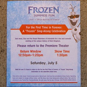 12 of 15: 'Frozen' Summer Fun - Live at Disney's Hollywood Studios - Frozen Summer Fun - For The First Time in Forever: A Frozen Sing-Along Celebration show ticket