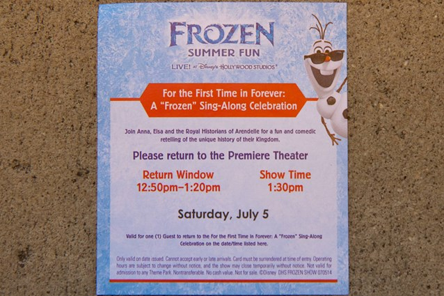 'Frozen' Summer Fun - Live at Disney's Hollywood Studios - Frozen Summer Fun - For The First Time in Forever: A Frozen Sing-Along Celebration show ticket