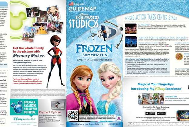 Frozen Summer Fun guide map
