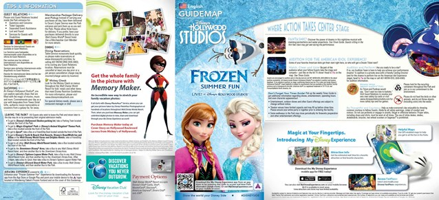 'Frozen' Summer Fun - Live at Disney's Hollywood Studios - Frozen Summer Fun - LIVE at Disney's Hollywood Studios guide map front
