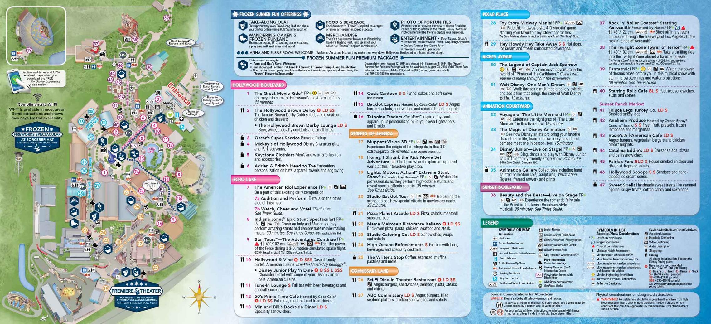Frozen Summer Fun - LIVE at Disney's Hollywood Studios guide map back