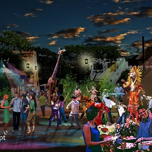 1 of 2: Harambe Nights - Harambe Nights street party concept art