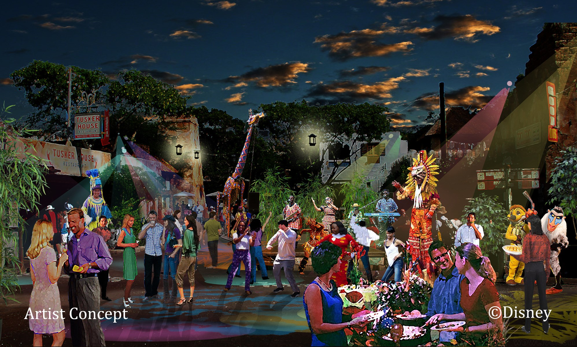 Harambe Nights concept art