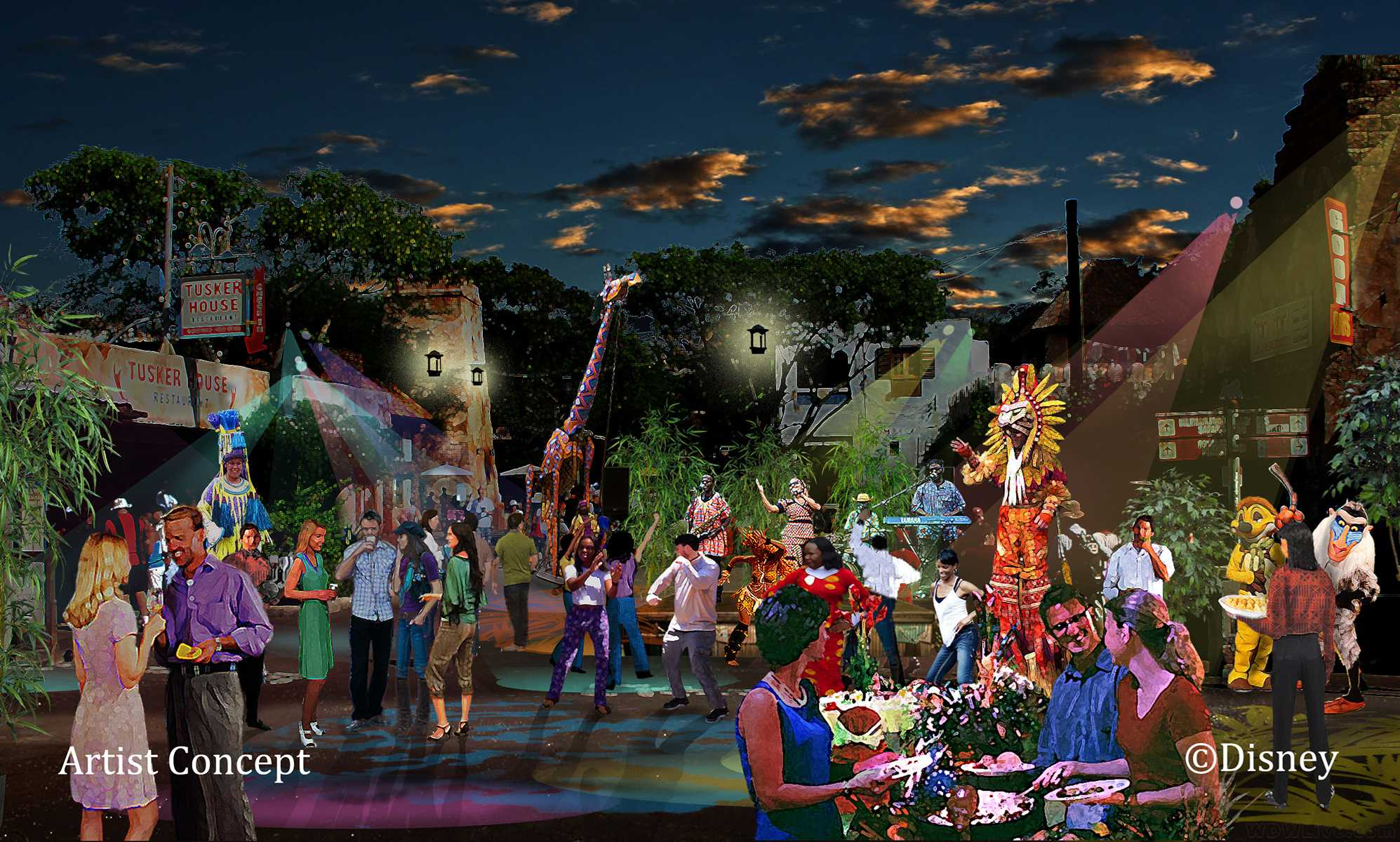 Harambe Nights street party concept art