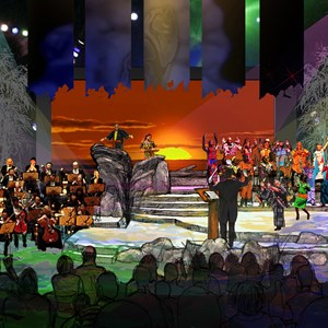 2 of 2: Harambe Nights - Harambe Nights - Lion King Concert in the Wild concept art
