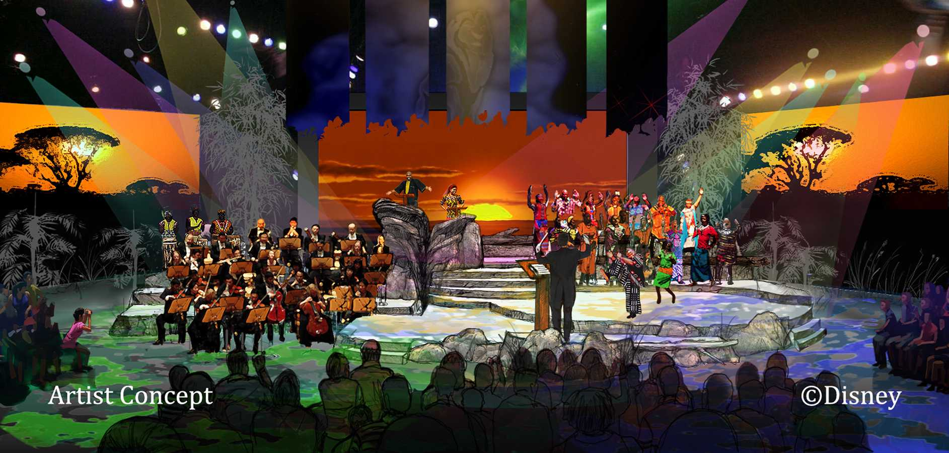 Harambe Nights - Lion King Concert in the Wild concept art