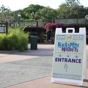 1 of 24: Harambe Nights - Harambe Nights - Main entrance signage