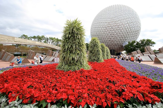 Holidays Around the World at Epcot - The main entrance planter