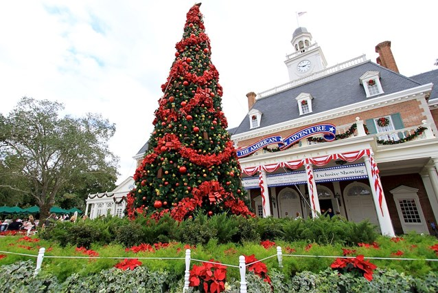 Holidays Around the World at Epcot - The American Adventure Christmas tree