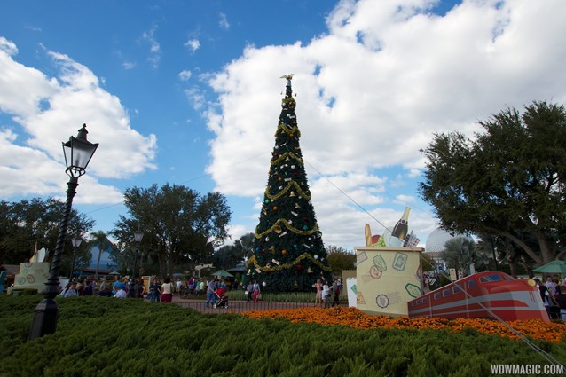 Holidays Around the World at Epcot - Epcot 2012 Christmas Trees - Main tree in World Showcase Plaza