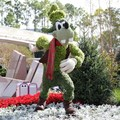 Holidays Around the World at Epcot - Epcot Main entrance decorations for 2012 - Goofy Topiary