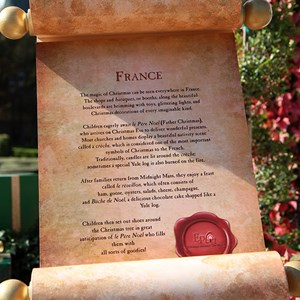 1 of 4: Holidays Around the World at Epcot - Holiday Storytellers - France - Pere Noel