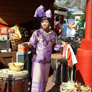 1 of 6: Holidays Around the World at Epcot - Holiday Storytellers - The American Adventure - Kwanzaa