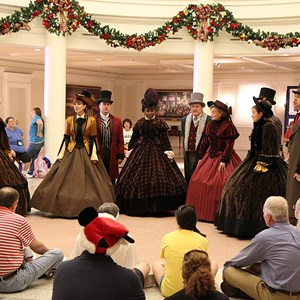 1 of 4: Holidays Around the World at Epcot - The American Adventure - Voices of Liberty Christmas Carolers