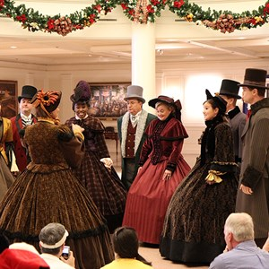 2 of 4: Holidays Around the World at Epcot - The American Adventure - Voices of Liberty Christmas Carolers