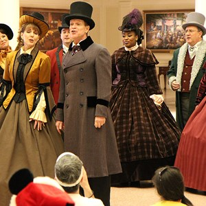 3 of 4: Holidays Around the World at Epcot - The American Adventure - Voices of Liberty Christmas Carolers