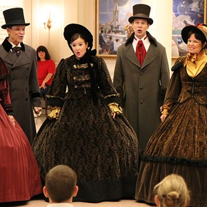 4 of 4: Holidays Around the World at Epcot - The American Adventure - Voices of Liberty Christmas Carolers