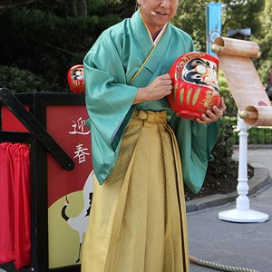 6 of 6: Holidays Around the World at Epcot - Holiday Storytellers - Japan - Daruma Vendor