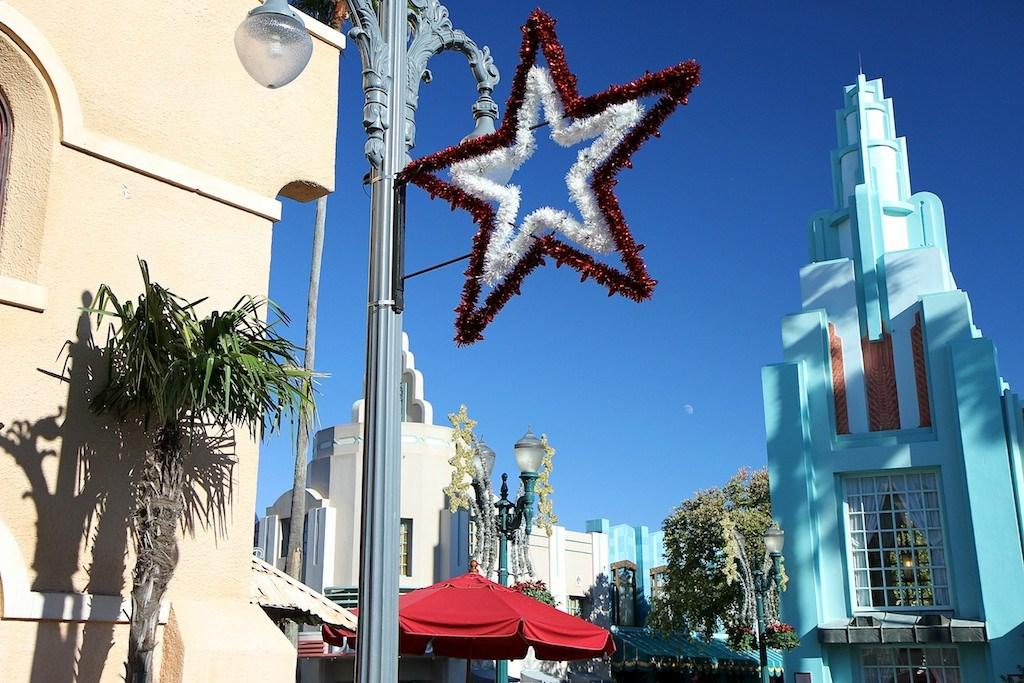 Disney's Hollywood Studios holiday decorations 2011