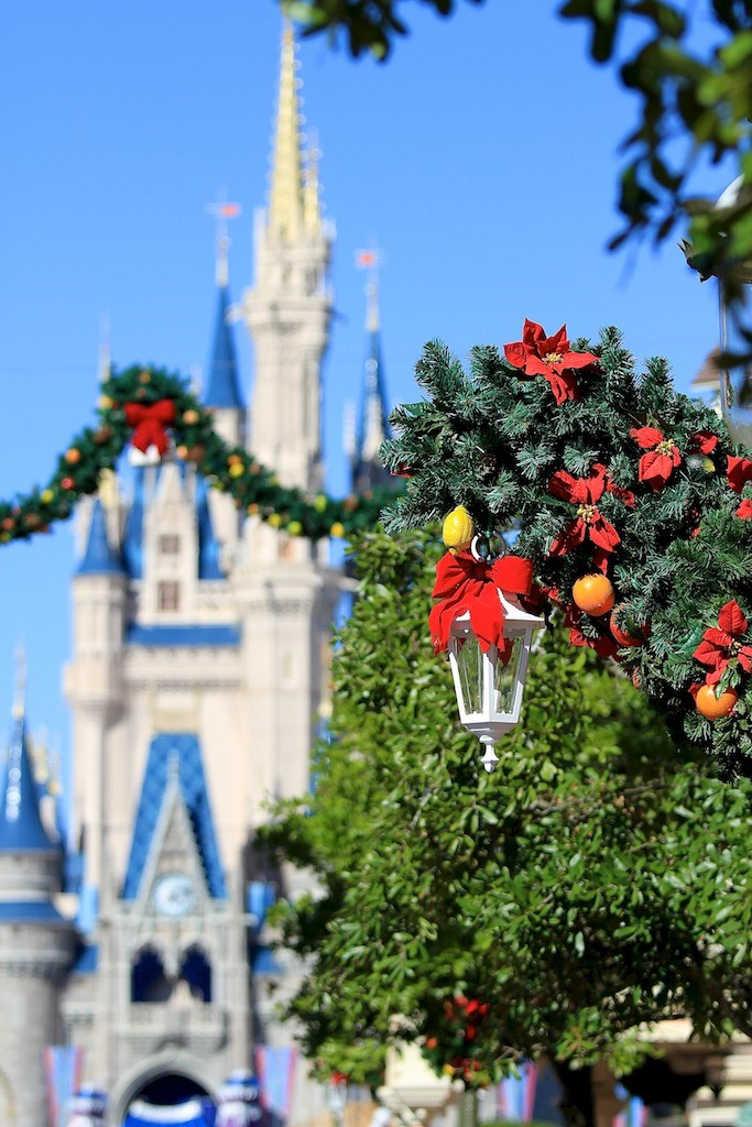 Holidays decorations at the Magic Kingdom 2010