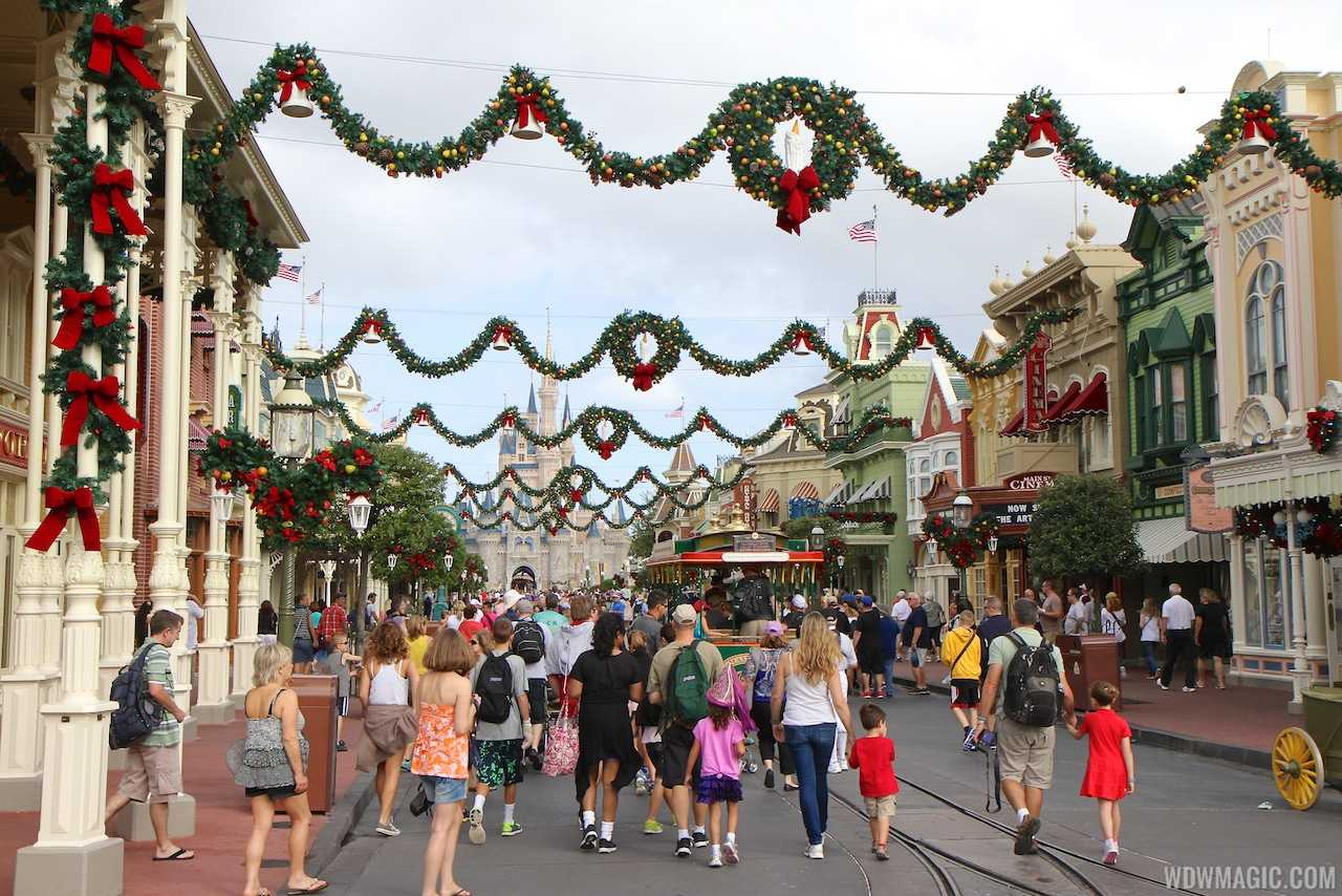 Main Street U.S.A. decked out for the the holidays