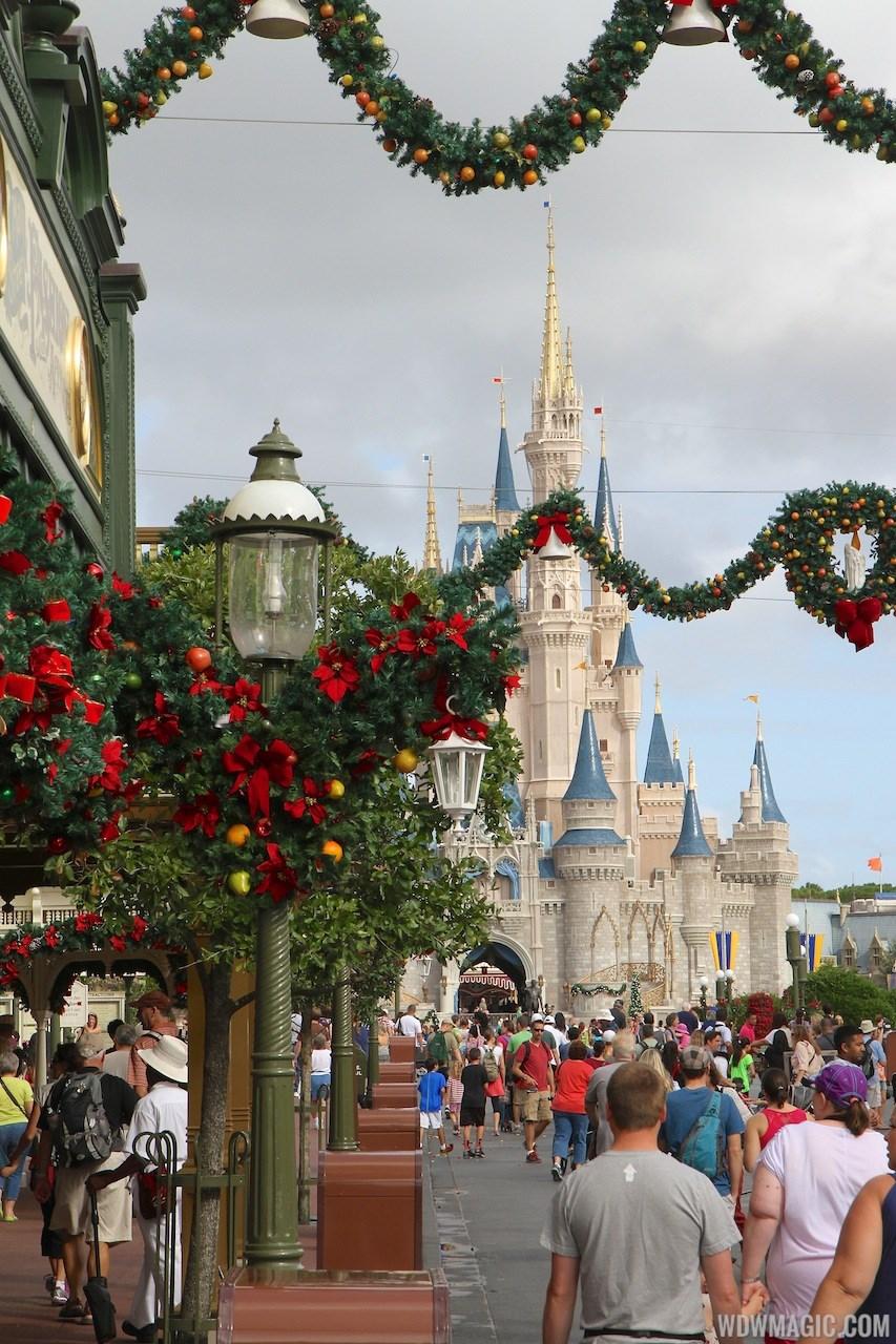 Holidays decorations at the Magic Kingdom 2013
