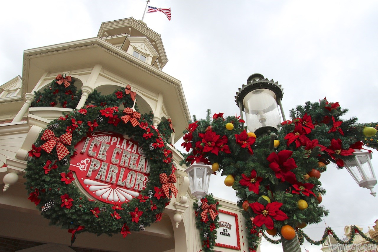 Holidays decorations at the Magic Kingdom 2013