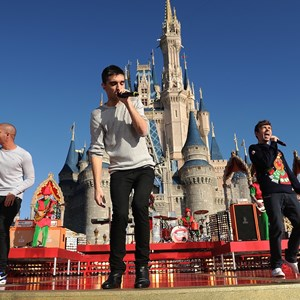 2 of 6: Holidays at the Magic Kingdom - The Wanted performs at the Disney Parks Christmas Day Parade TV Special 2013 taping