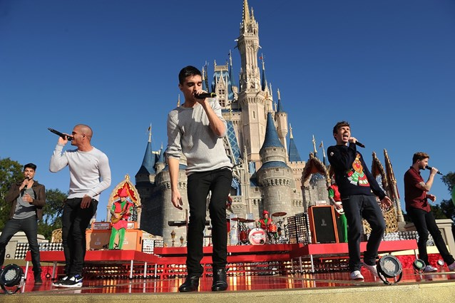 Holidays at the Magic Kingdom - The Wanted performs at the Disney Parks Christmas Day Parade TV Special 2013 taping