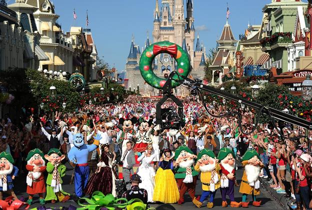 Disney Parks Christmas Day Parade taping