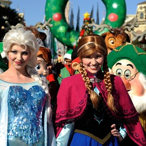 5 of 6: Holidays at the Magic Kingdom - Characters at the Disney Parks Christmas Day Parade TV Special 2013 taping