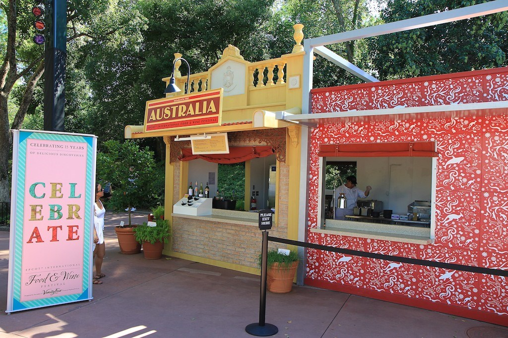 2010 International Food and Wine Festival menus, kiosks and decor