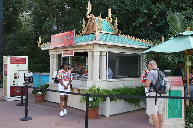 Epcot International Food and Wine Festival - 2012 Food and Wine Festival - Singapore kiosk