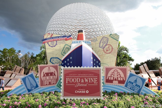 Epcot International Food and Wine Festival - 2012 Food and Wine Festival - front of park decor
