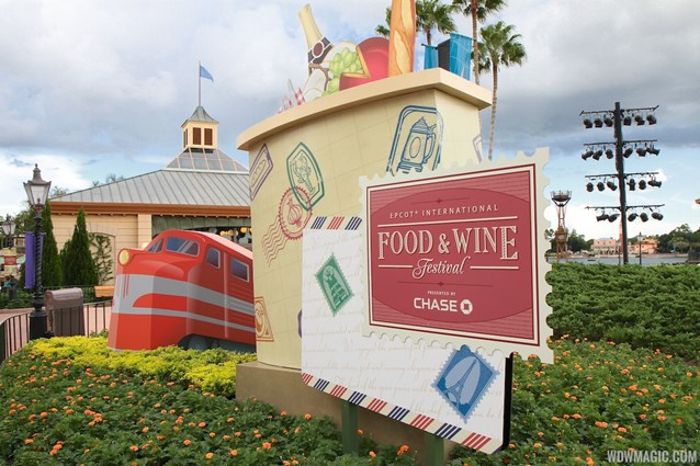 Epcot International Food and Wine Festival - 2012 Food and Wine Festival - World Showcase Plaza decor