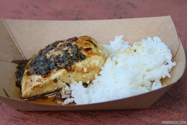"International Food and Wine Festival - Singapore - Seared Mahi Mahi with Jasmine Rice and ""Singa"" Sauce"
