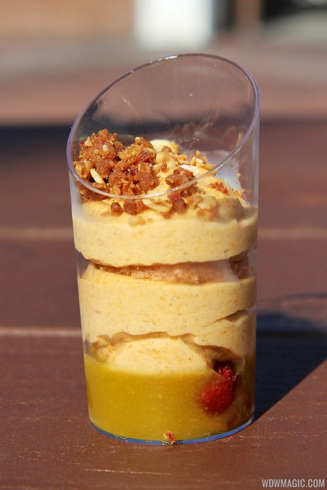 Epcot International Food and Wine Festival - Hops and Barley - Pumpkin Mousse with Craisins and Orange Sauce