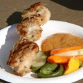 International Food and Wine Festival - China - Chicken Satay with Spicy Peanut Sauce and Pickled Vegetables