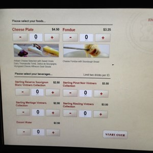 2 of 3: Epcot International Food and Wine Festival - Food and Wine Festival - Cheese self service kiosk