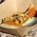International Food and Wine Festival - Greece - Griddled Greek Cheese with Pistachios and Honey